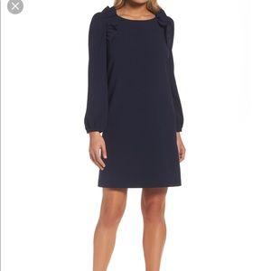 Chelsea28 Shoulder Ruffle Shift Dress